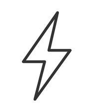 Flash Icon. Lightning Symbol. Vector Illustration