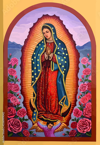 Foto lady of guadalupe mexico saint holy faith illustration religious culture roses