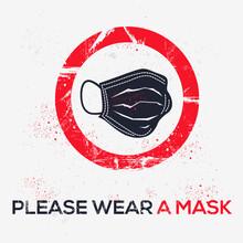 Warning Sign (please Wear A Ma...