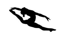 Girl Gymnast Split In Jump Gym...