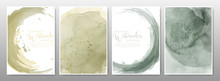Earth Tone Watercolor Background Set