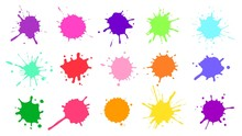 Color Paint Splatter. Colorful...
