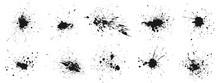 Grunge Ink Splatter. Splash Of...