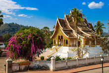 Temple In Luang Prabang With B...