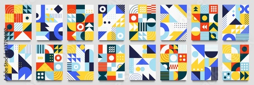 Abstract geometric backgrounds Canvas Print