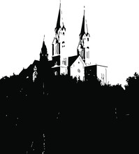 Church With Steeples, High Abo...