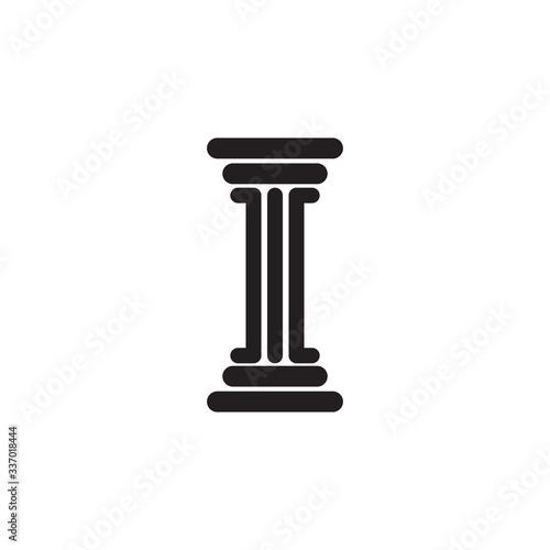 Pillar icon logo design vector template Canvas Print