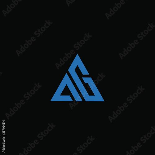 ag letter vector logo abstract Canvas Print