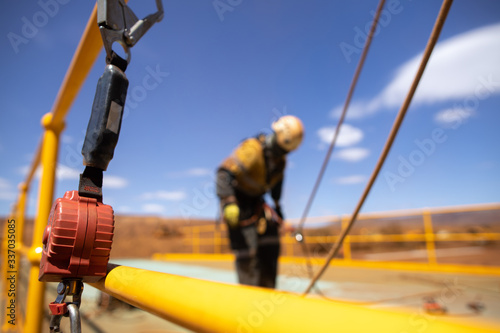 occupational health and safety, task, straining, rescue, retractable, protection Canvas Print