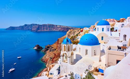 Leinwand Poster Santorini island in Greece
