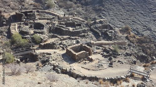 Cuadros en Lienzo Poblado prehistórico Canario
