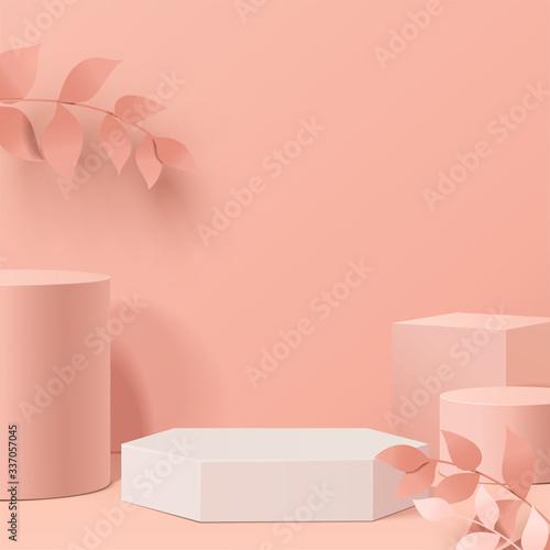 Fotografia minimal scene with geometrical forms