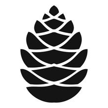 Fall Pine Cone Icon. Simple Il...