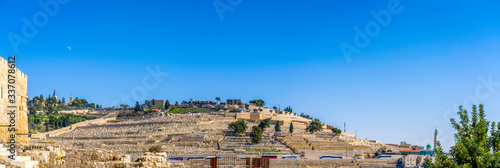 Fotomural Panorama of Mount of Olives, Tombs, graves, hillside