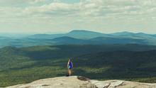 Hiker On Mount Cardigan