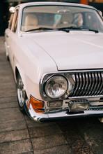 White Classic Vintage Car