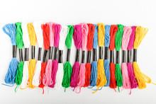 Many Mixed Vivid Colored Sewin...