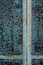 Blue Rusted Grate Texture