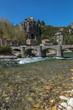 Village de la Beaume en Ardèche , au printemps