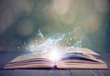 Open Book With Magic Glowing O...