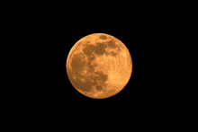 Supermoon (Super Full Moon Or Super Moon) April 8, 2020. On This Day The Moon Is The Largest And Brightest Of The Year.