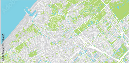 Photo Urban vector city map of The Hague, The Netherlands