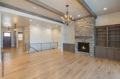 Fotografia, Obraz Rustic and Modern Farm House Living Room