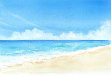 空と海 水彩画