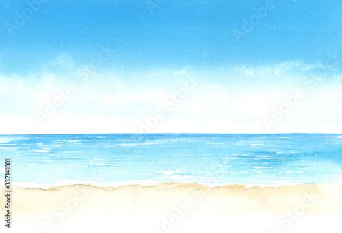 空と海 Billede på lærred