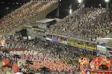 Crowd In Stadium At Night
