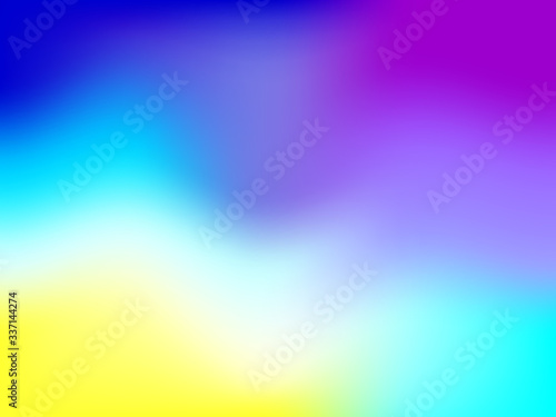 Fototapeta Abstract blurred gradient mesh background with colorful bright rainbow smooth banner template or pattern. obraz