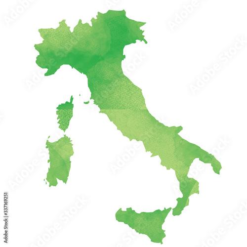 Fototapeta 世界地図 イタリア 水彩風 obraz