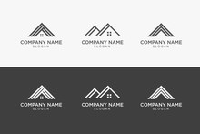 House Roof Logo Design Vector