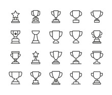 Simple Set Of Trophy Icons In ...