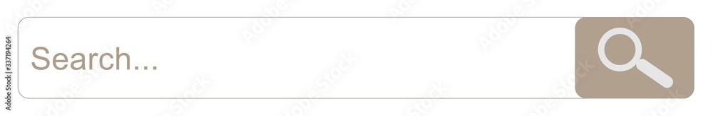 Fototapeta Illustration of search bar for internet browser