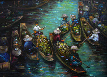 Art Painting Oil Color Floatin...