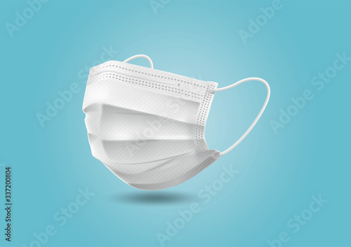 Fototapeta technicalmask hygienemask マスク 使い捨てマスク パッケージ素材 不織布マスク Disposablemask obraz