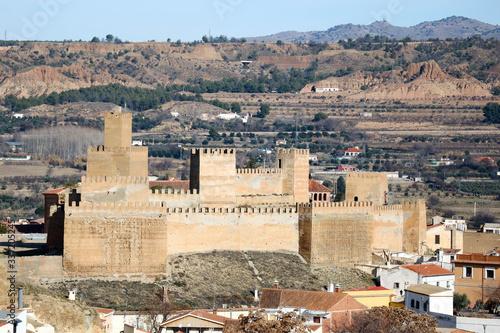 Cuadros en Lienzo Panoramic view to ancient moorish fortress of Guadix, Granada, Spain
