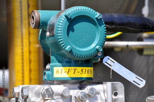 The pressure transmitter installed on process equipment Fototapet