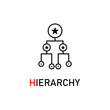 hierarchy outline icon on white background, vector symbol