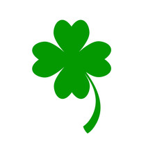 Green Clover Leaf For Happy Pa...
