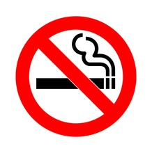 No Smoking Sign Vector Isolate...
