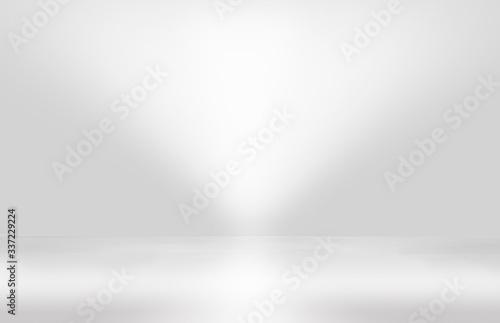 Obraz Abstract studio background gradient silver gray wall - fototapety do salonu