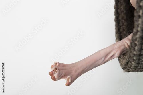 Sphynx cat leg Canvas Print