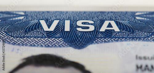 Fotografia Macro of Usa visa