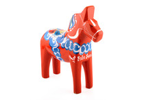 A Dalecarlian Horse Or Dala Horse (Swedish: Dalahäst) Is A Traditional Carved, Painted Wooden Statue Of A Horse Originating In The Swedish Province Of Dalarna (Dalecarlia).