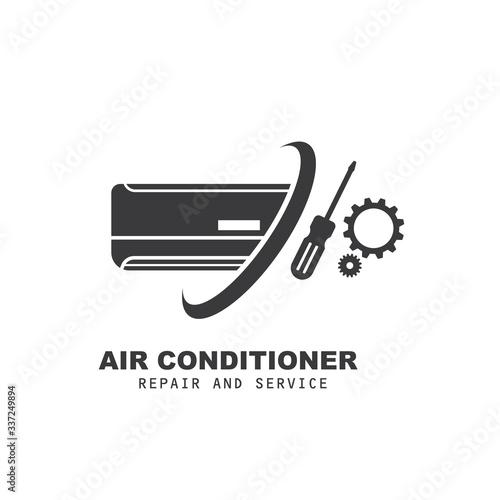 airconditioner repair and service vector icon illustration design Canvas Print
