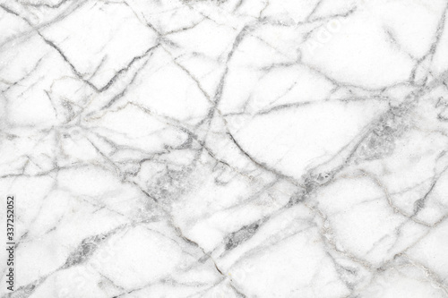 Fototapeta natural White marble texture for skin tile wallpaper luxurious background. Creative Stone ceramic art wall interiors backdrop design. picture high resolution. obraz na płótnie