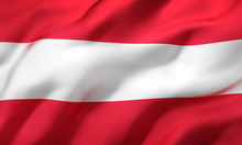 Flag Of Austria Blowing In The...