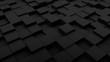 Minimalistic black 3d cubes geometric background. Modern abstract raster illustration, 3d rendering. Raster.